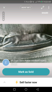 Michael kors ourse brand new never used, with silk bag & straps