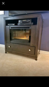 Dimolex Fireplace/Buhler TV Stand