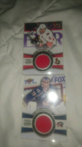 4 game UD GAME USED JERSEY CARDS
