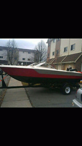 Trailer, boat, and motor