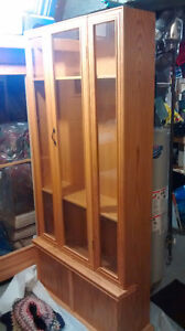 All oak and cabinet