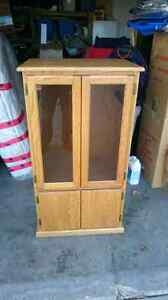 Solid oak stereo cabinet NEED GONE!
