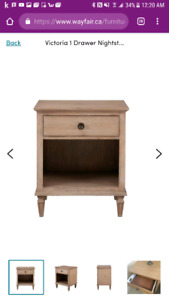 Brand new 2pc Victoria Nightstands