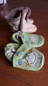 Lot de 2 paires de pantoufles pour bébé