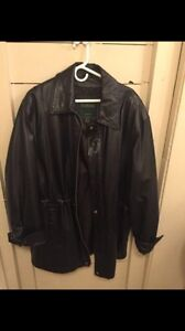GENUINE LEATHER FASHIONABLE COAT by DANIER...NEW!!!!