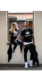 King  and queen t shirts  new never worn