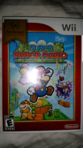 Wii Super Paper Mario Game Complete $35