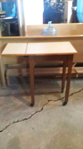 Table with flip up