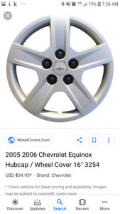 chevy equinox wheel cover hubcaps set of 4