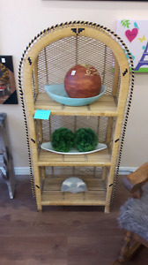Beautiful wicker shelf