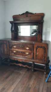 Large Solid Wood Antique Buffet