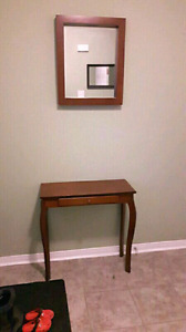 CONSOLE TABLE WITH MIRROR- both