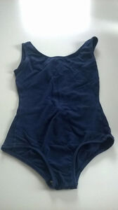 Navy ballet bodysuit for girls:compatible with IDA requirements
