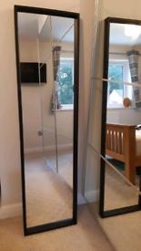 Ikea NISSEDAL Mirror, black 40x150 cm
