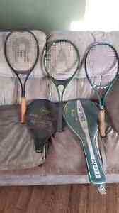 3 Tennis rackets  for sale.