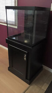 30 Gallon Cube TANK,STAND,RETURN PUMP, SUMP, OVER FLOW BOX,