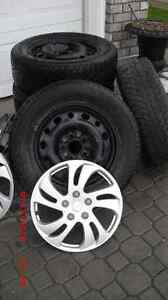 1set wintertires on steelrims