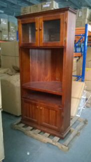 Timber  Corner TV cabinet with glass door size W90xD63XH90 Regents Park Logan Area Preview