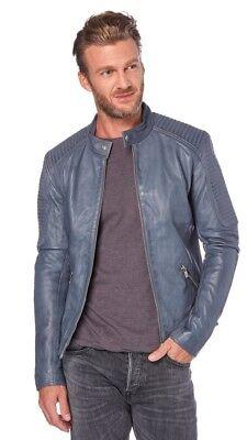 Veste cuir usal way grise - leather jacket, usado segunda mano  Embacar hacia Spain