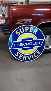 LARGE CHEVROLET SERVICE SIGN