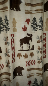 Moose, Bear, Nature shower curtain