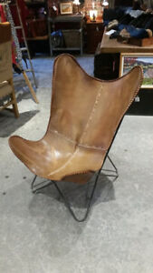 Leather Butterfly Chair - Half Price!
