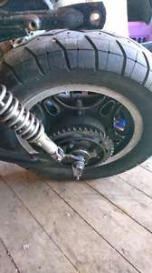 Two sets of Honda Cb750 wheels