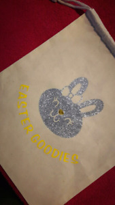 Personalized Easter bags ! Resuable:) can add any name/image