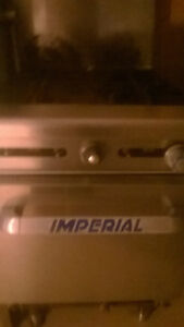 A four burner used Imperial Restaurant stove in great shape