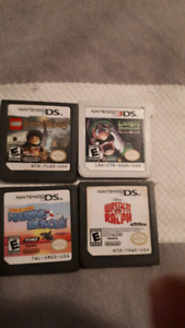 4 games for the Nintendo 3ds for 40$