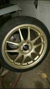 "17"" gold  rota torque rims for sale or trade"