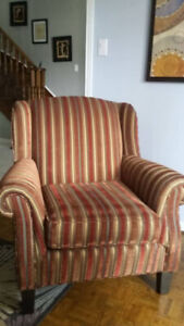 Striped chair - excellent condition