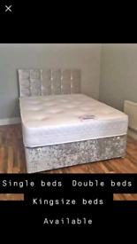 GORGEOUS Divan bed set with luxury mattress and FREE DELIVERY