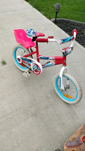 Little Girls Bike with Doll Seat.