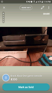 Xbox One with kinect 2 controllers and 4 games
