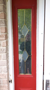 Entry door  glass insert and  side lite