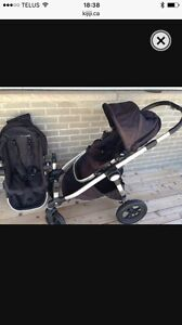 City select double stroller including second seat