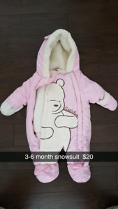 3-6 month girl snowsuit