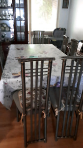 Glass Table with 8 chairs