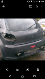 Peugeot 206 smoothed bootlid
