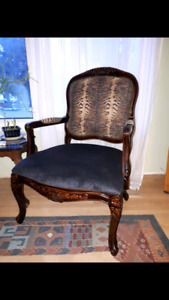 Newly upholstered arm chair