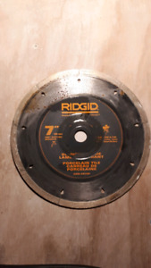 Used 7in tile saw blades