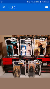"5 Star Wars 40th Anniversary 6"" Figures Mint in Box"