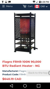 Flagro propane and natural gas heater