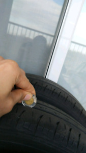 Hyundai Accent old tires