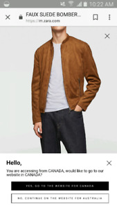 Bomber style faux suede men's jacket