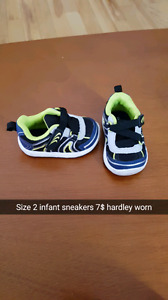 Infant size 2 sneakers like new