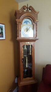 Handmade Solid Oak Grandfather Clock