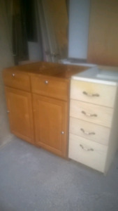 Assorted size kitchen cabinets for sale