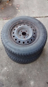 2 Winter Tires in Excellent Condition London Ontario image 1